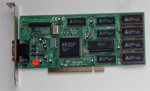 Видеокарта S3 Virge DX PCI